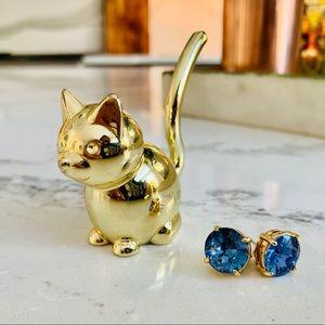 Kate Spade Sapphire Blue Earrings NWOT